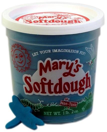 Large tub of Blue Softdough