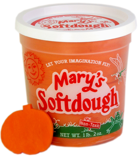Large tub of Orange Softdough