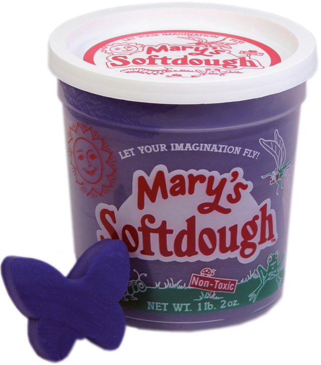 Large tub of Purple Softdough