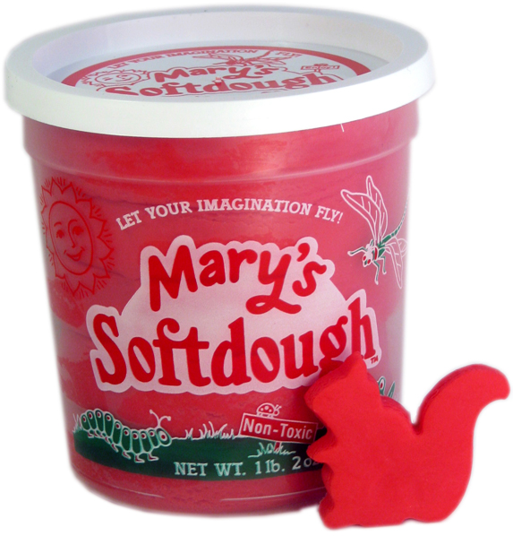 Large tub of Red Softdough
